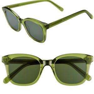 New Madewell Sunglasses Venice Flat Frame Green
